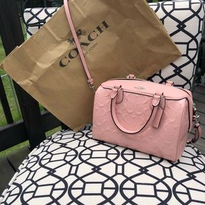 Coach mini Bennett satchel Handbag Light Pink NWT